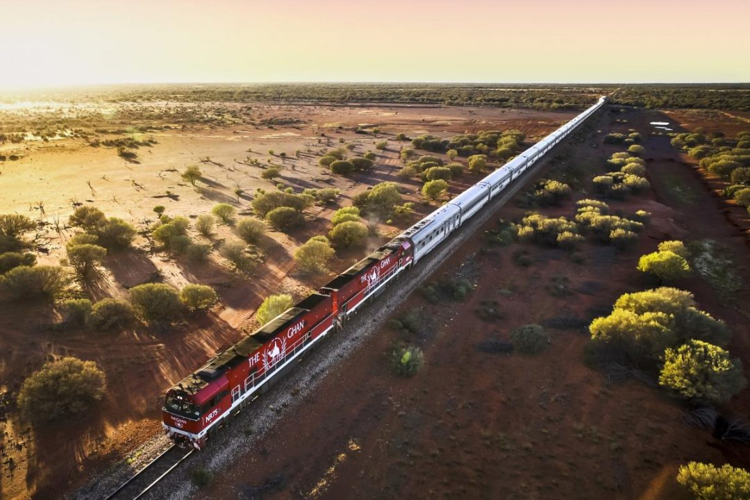 Train Ghan en Australie